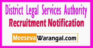 DLSA District Legal Services Authority Recruitment Notification 2017 Last Date 31-07-2017