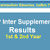 AP Inter Supplementary Exam Results 2021 - 1st 2nd year