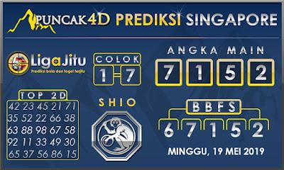 PREDIKSI TOGEL SINGAPORE PUNCAK4D 19 MEI 2019