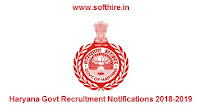 Latest Government Jobs In Haryana