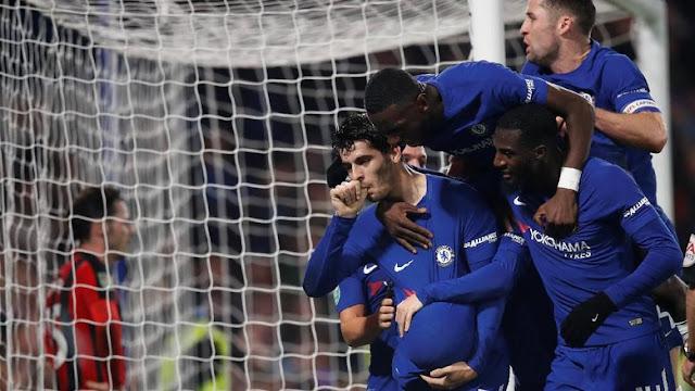 Piala Liga Inggris: Dramatis, Morata Loloskan Chelsea ke Semifinal