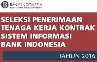 Penerimaan Tenaga Kerja Kontrak Bank Indonesia