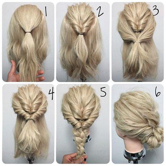 medium hair tutorial