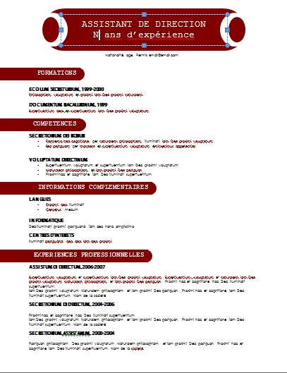 Curriculum Vitae Au Maroc Resume Templates Skills Section