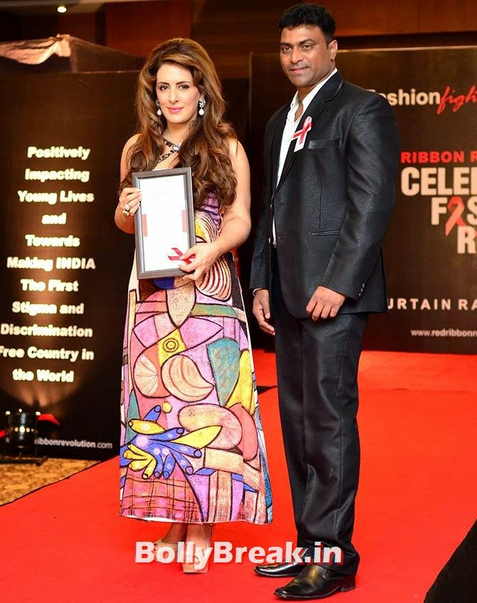Pria Kataria Puri with Elvis Joseph, A fashion show to fight AIDS in Mumbai