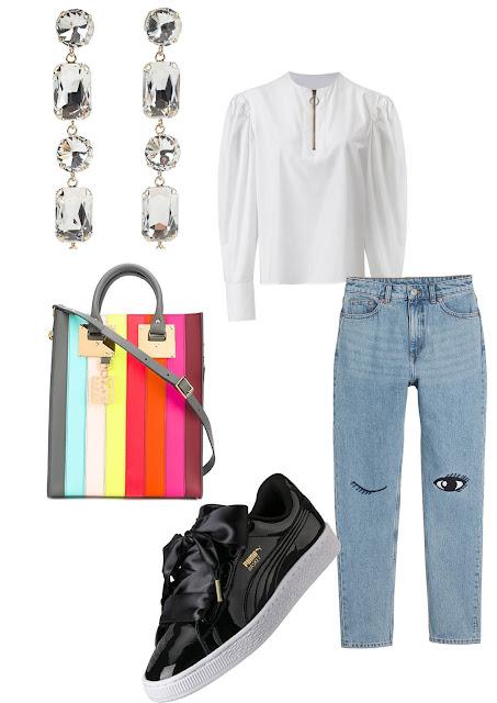 Анна Мелкумян, модный блог, фешн блог, стиль, белая рубашка, с чем надеть джинсы, суика Tous, блоггер, Anna Melkumian, fashion blog, fashion blogger, style blogger, Moscow