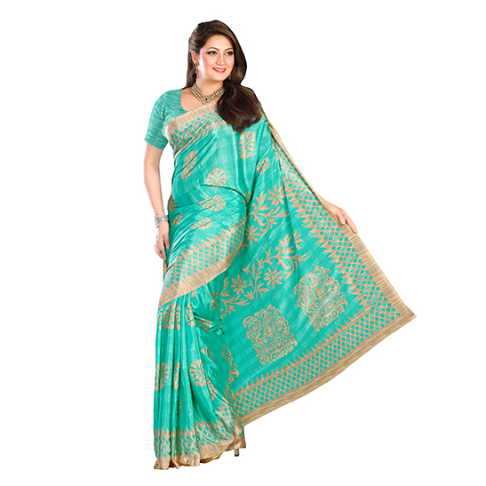 Designer Garden Silk Sarees For Women Kavvyafashion