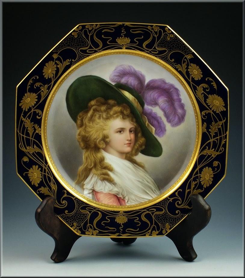 Bunnatine Dreams Ladies on plates