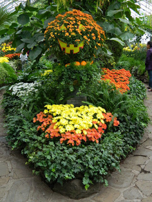 Halloween mum display at 2016 Allan Gardens Conservatory  Fall Chrysanthemum Show by garden muses-not another Toronto gardening blog