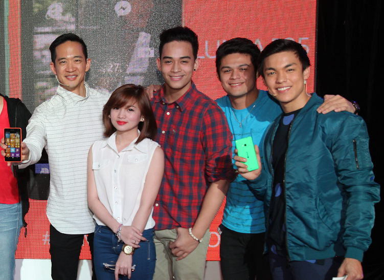 Gary Chan with celebrity guests, Ella Cruz, Diego Loyzaga, Jon Lucas and celebrity host, Alex Diaz