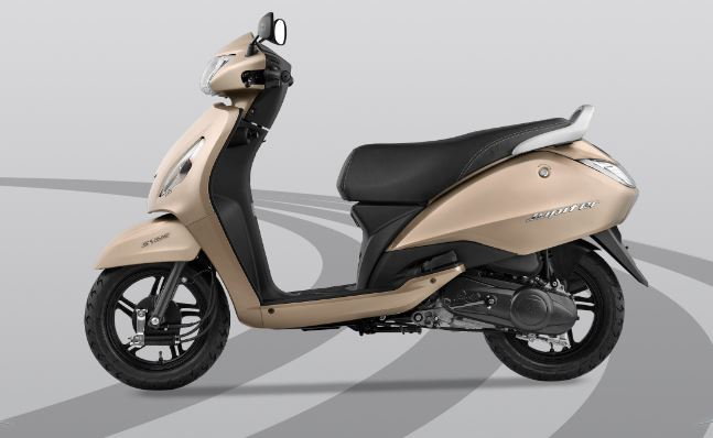 TVS Jupiter Gold Colour 2018