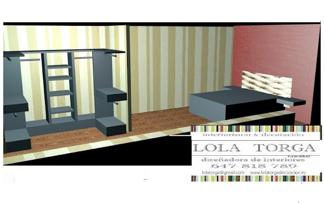 dormitorio con vestidor www.lolatorgadecoracion.es