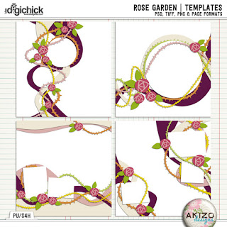 Template : Rose Garden by Akizo Designs