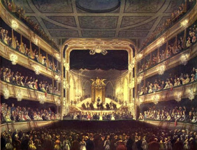 Theatre Royal, Covent Garden from The Microcosm of London Vol 1 (1808)