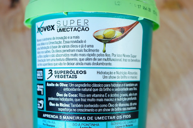 cabelos, tratamento capilar, novex, umectação capilar, óleo de coco, oliva, ricino,