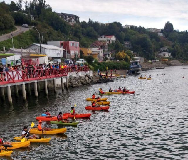 Calbuco: muestra de taller de kayak