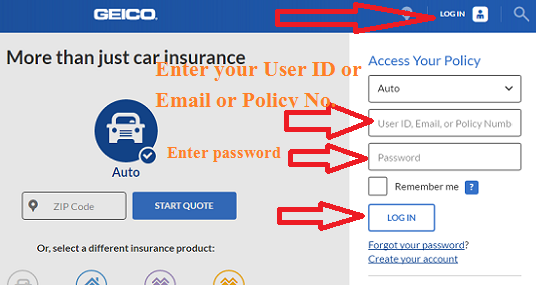 Geico Login At Wwwgeicocom