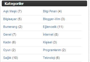 Blogger Etiketleri Yanyana Sıralama