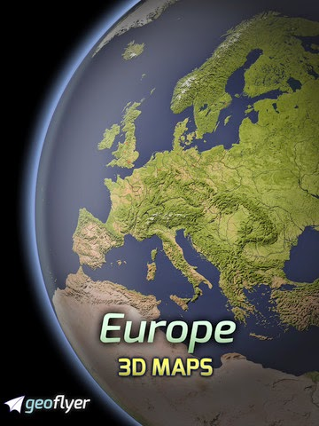 Europe 3D Maps - GPS Tracks and Routes for Hiking, Biking and Outdoor Activities