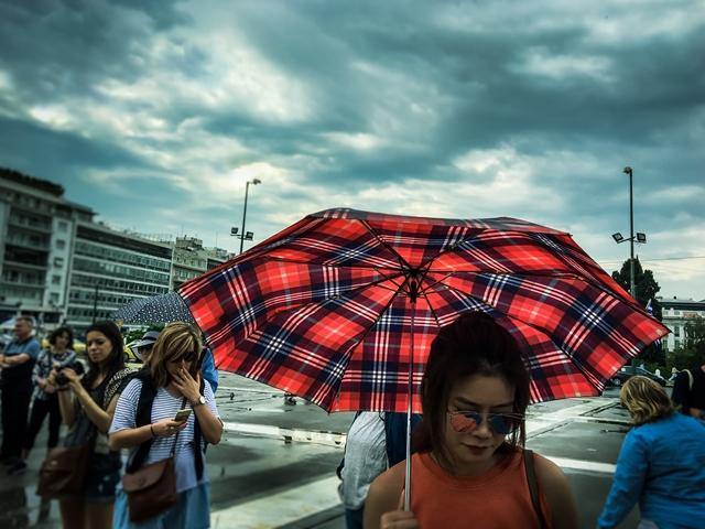 beautiful red umbrella