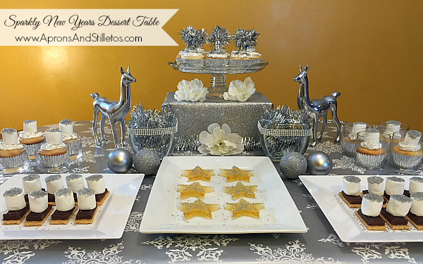 Instead Of Just Making Desserts This Year I Decided To Put Together A Festive Sparkly New S Eve Inspired Dessert Table