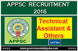 APPSC Recruitment 2016 Apply for 36 Assistant Other Posts