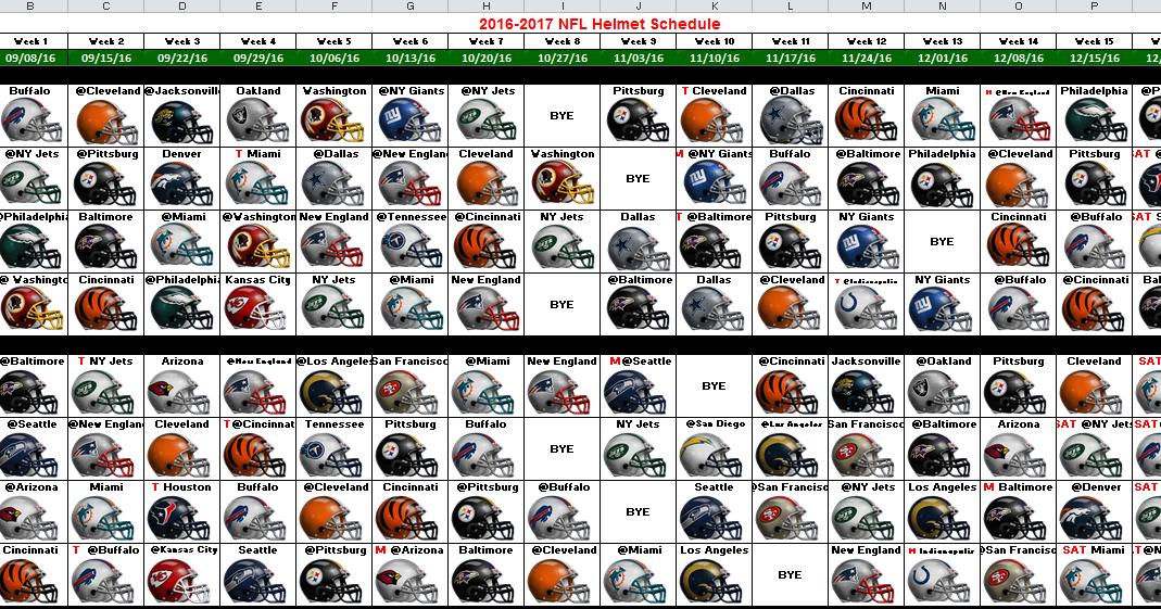 excel spreadsheets help  2016 nfl helmet schedule spreadsheet