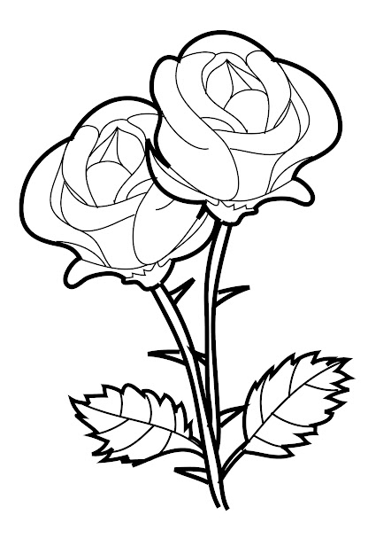 Free Printable Roses Coloring Pages For Kids Printable Coloring
