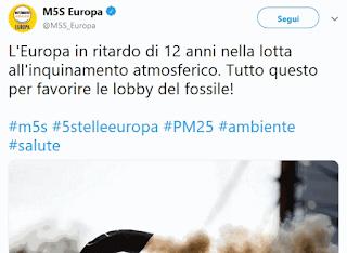 M5S e le lobby del fossile