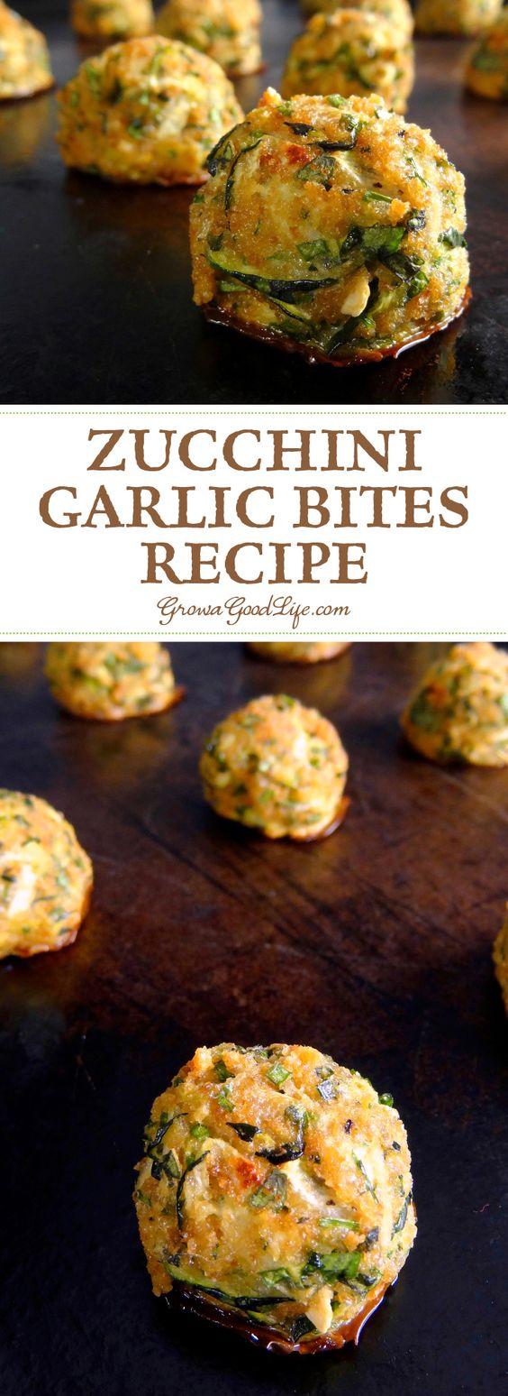 Zucchini Garlic Bites #zucchini #garlic #bites #vegetarian #vegetarianrecipes #veggies #vegan #veganrecipes