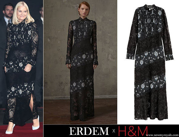 Crown Princess Mette-Marit wore Erdem x H&M Lace Dress