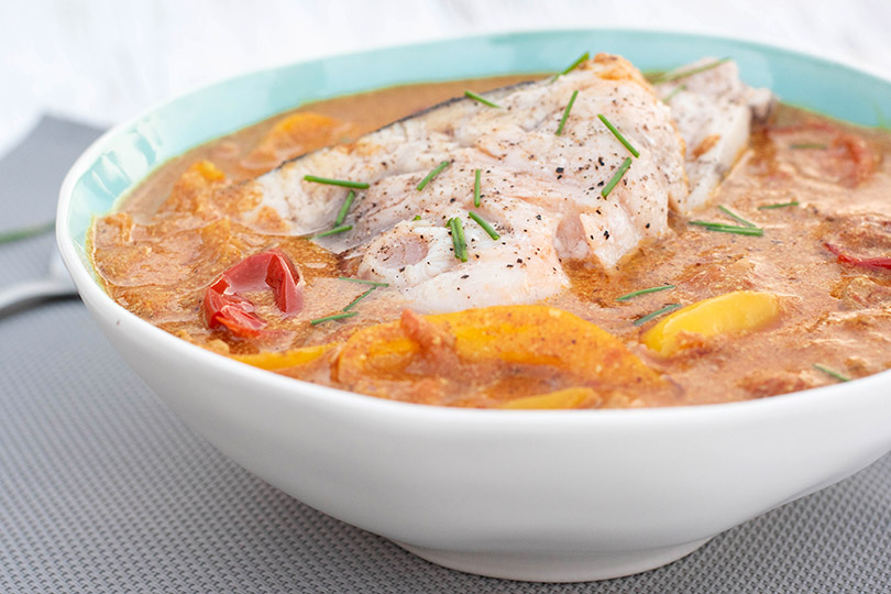 recette Espadon sauce curry
