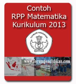 Contoh RPP Matematika Kurikulum 2013