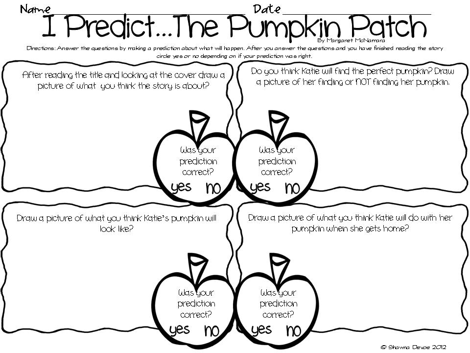 The Picture Book Teachers Edition The Pumpkin Patch By Margaret