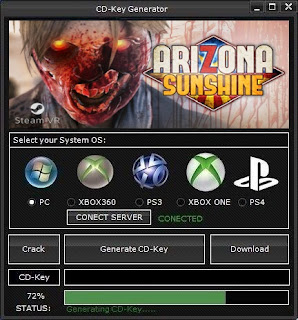 Arizona Sunshine CD Key Generator (Free CD Key)