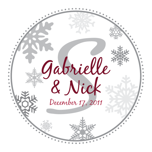 Custom Printables: Snowflake monograms