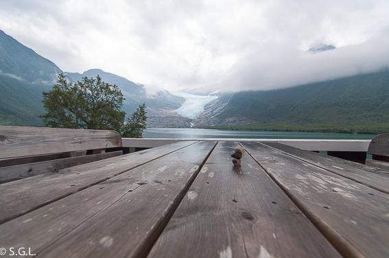 Detalle del glaciar Svartisen. Noruega