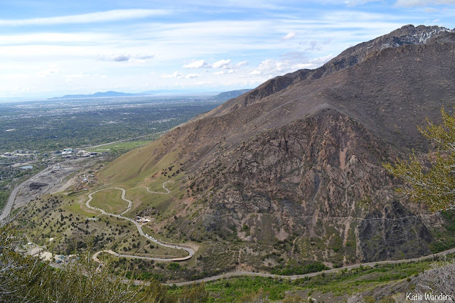 View of Big Cottonwood Canyon from the overlook of Ferguson Trail