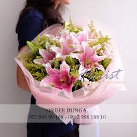 hand bouquet anniversary, hand bouquet murah, jual bunga jakarta,