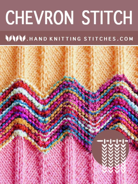 The Art of Knitting - #LearnToKnit Chevron Textured Pattern