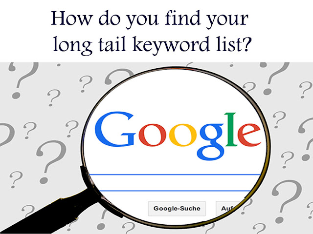 how do you find your long tail keyword list?