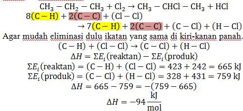 kalor diketahui energi ikatan