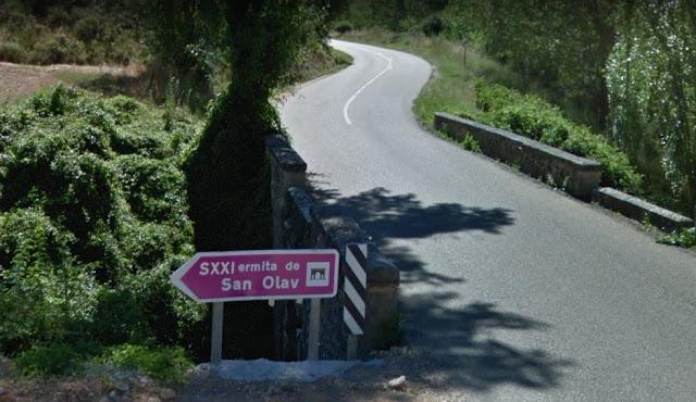 Cartel de entrada a la Capilla de San Olav