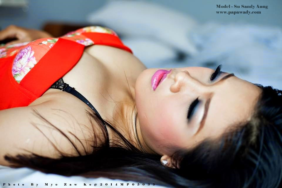 Su Sandy Aung - Photoshoot on Bed