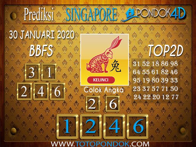 Prediksi Togel SINGAPORE PONDOK4D 29 JANUARI 2020