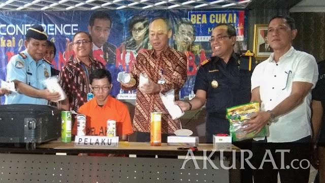 Wong Seng Ping Selundupkan Snack Berisi Sabu 2,840 Kg Via Bandara Juanda