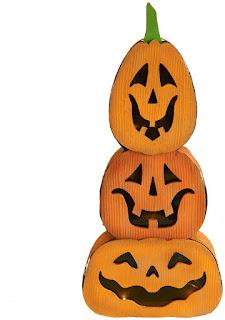 Jackolantern/Pumpkin Stacked Light Decor for Halloween