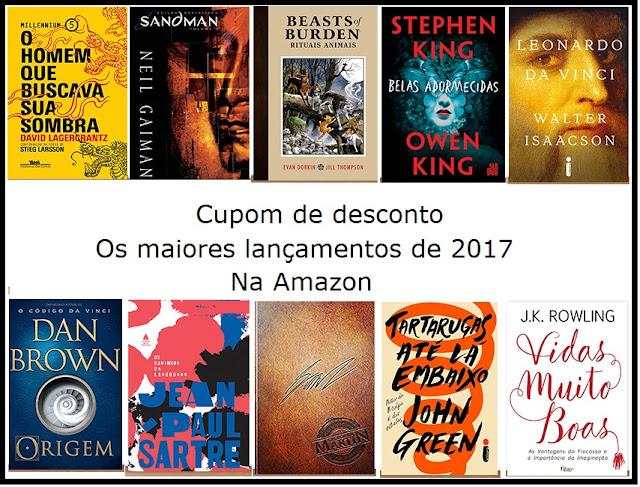 Amazon: cupom de desconto para os maiores lançamentos de 2017