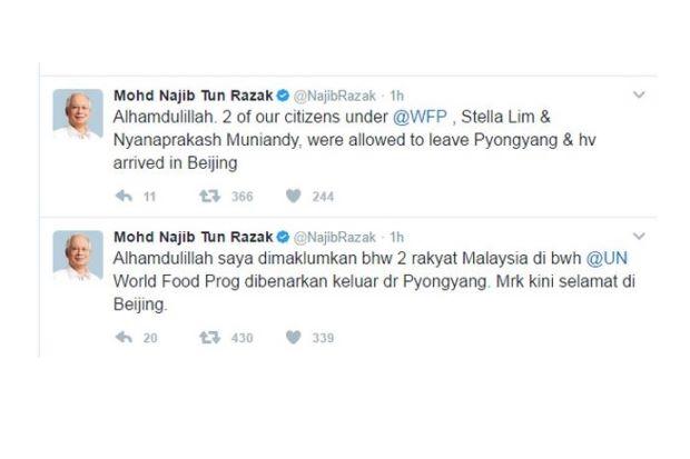 2 Petugas PBB Rakyat Malaysia Dibebaskan Korea Utara