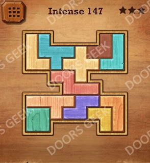 Cheats, Solutions, Walkthrough for Wood Block Puzzle Intense Level 147